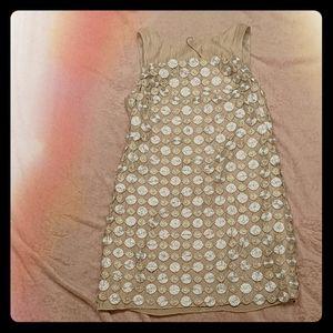Alexia Admor Dresses - Alexia Admor Metallic Circle Shift Dress